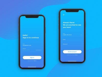 Daily UI challenge #001 — Sign in