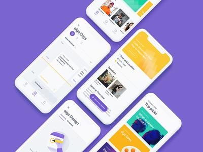 iOS Event app calendar agenda event sketch ui iphone iphone x ios design clean app
