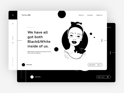 Day and Night Mode figmadesign figma night day black white vector landing website illustration interface ux design web clean ui