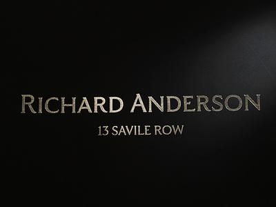 Richard Anderson - Savile Row london british wordpress development website design wordpress tailored tailor savile row logo bags stationery business cards foil stamped foil print design branding