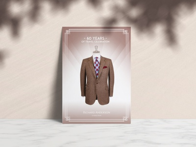 Richard Anderson - Savile Row - 60 Years Celebration mens fashion tailored tailoring savile row retouching photography lookbook design catalogue brochure print design
