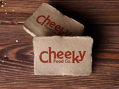 Cheeky Food Co packaging design brand strategy indian food logo packaging branding