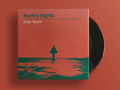 Bonfire Nights - Easy Touch (single artwork) record book cover retro 70s print psych band music
