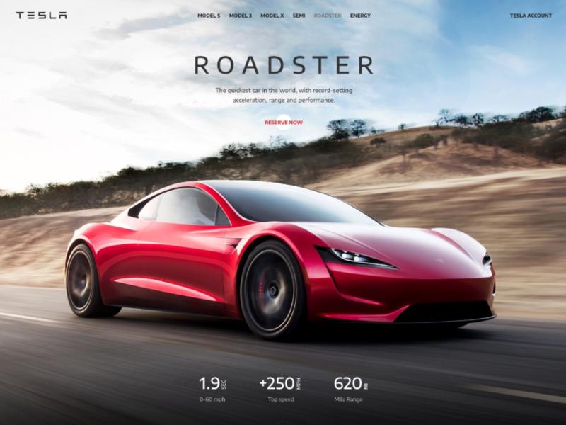 Tesla Landing Page