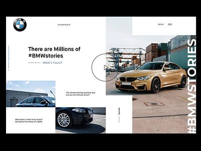 BMW Landing Page ux ui modern design modern design clean ui dailyui web app design web app webdesign website design web design website web