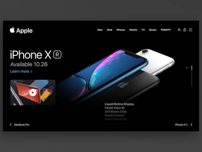 iPhone XR websites web app ux ui modern modern design design dailyui clean ui website design webdesign web design website web