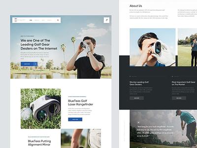 Golf Landing Page ui modern design modern clean design dailyui clean ui clean design website design webdesign web design website web