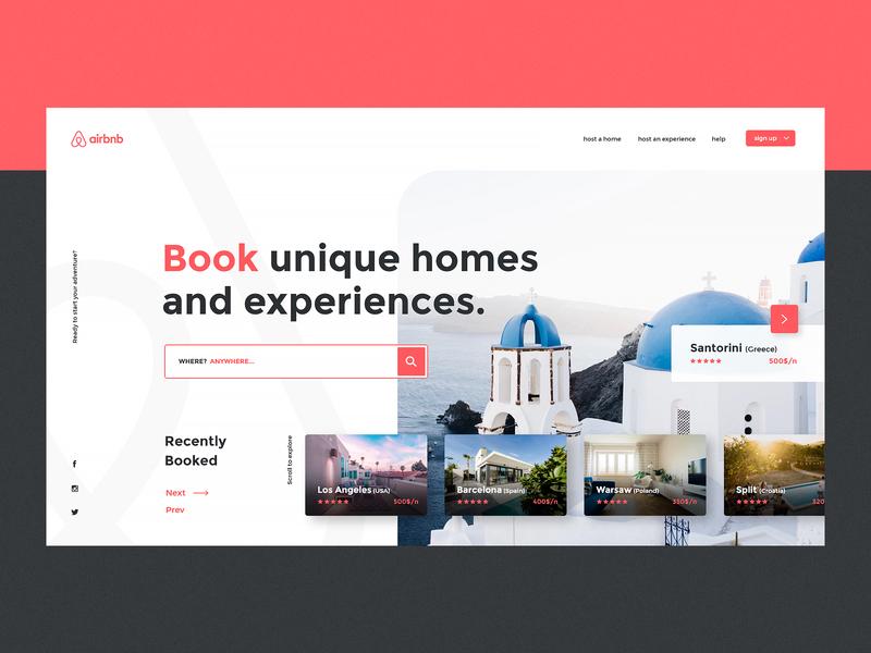 UI/UX AirBnB web app website design website web design webdesign modern design modern design dailyui clean ui