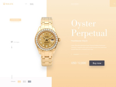 Rolex UI/UX ui web app website design website web design webdesign modern design modern design dailyui