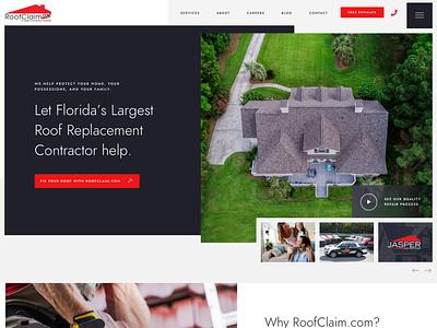 Roofing Construction Website dailyui web web app website design website web design webdesign modern design modern design