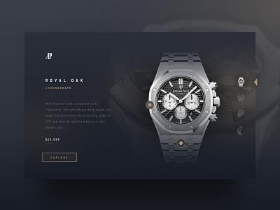 Audemars Piguet Watch Website ui design web app web website design website web design webdesign modern modern design