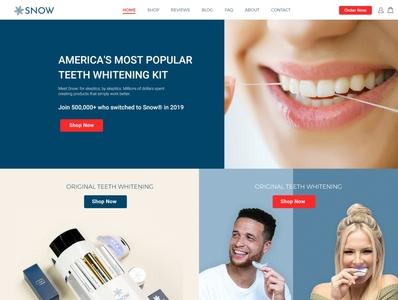 SNOW Teeth Whitening web website design website web design webdesign modern design modern design