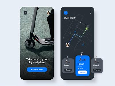 Scooter App UI/UX clean ui website web design webdesign design app web modern website design modern design