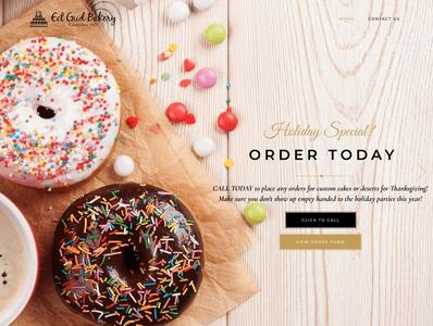 Eet Gud Bakery modern website design website web design webdesign modern design