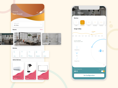 Smart Home App app ui design