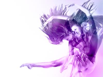 Alex purple dance gradient