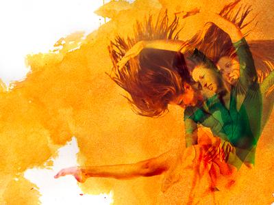 Alex Yellow dance dancer watercolor yellow