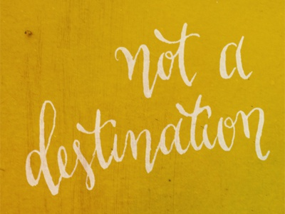 happiness is a way of travel destination calligraphy
