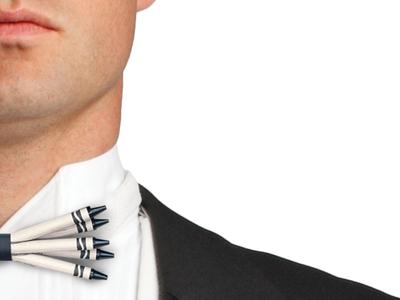 Black Crayon Bow-tie black crayon bow tie tuxedo gala