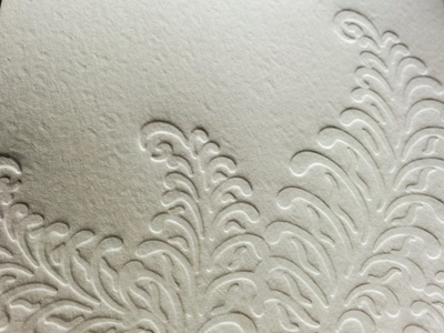 Letterpressed Ferns letterpress wedding invitations ferns