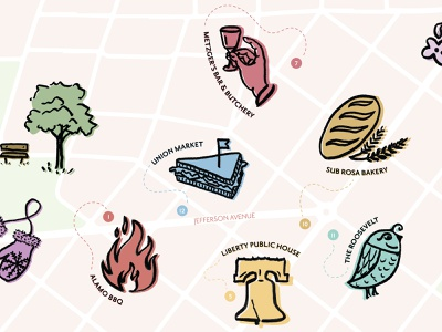 Church Hill Map Detail illustration fun maplestory quirky colorful design map illustration map