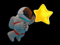 Astronaut With Star