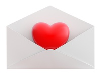 Love Heart in envelope