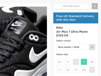 JD Sports - Product Page UI