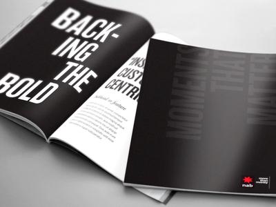 NAB - Moments That Matter Booklet Design