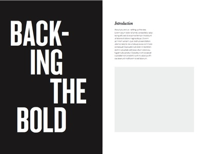 NAB - Moments That Matter Page Design introduction black and white minimal page layout magazine page design intro type clean typography design graphic design layout design layout