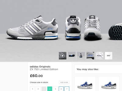 JD Sport - Product Page size selection basket checkout sneakers cross sell store product page product black and white footwear retail design web design photography sports brand landing page graphic design ui clean