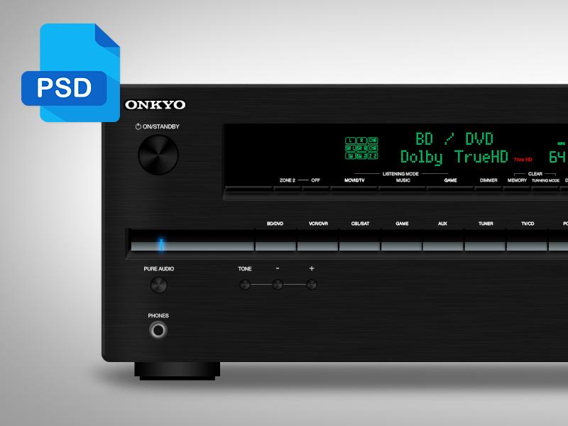 AV Receiver FREE PSD onkyo icon free psd freepsd avreceiver receiver