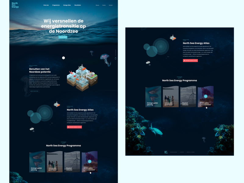 Creative webdesign ux flat clean sites webdesigns creative uiux dark north sea energy playground site webdesign blue water ui design ocean sea