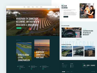 UI Design Solar company website green solar energy illustration branding responsive webdesign solar flat ui site clean design