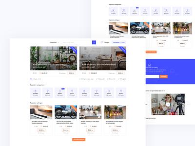 Auction website (first concept) 🔥 ui design interface white purple clean flat free branding responsive webdesign web uidesign design playground website auction