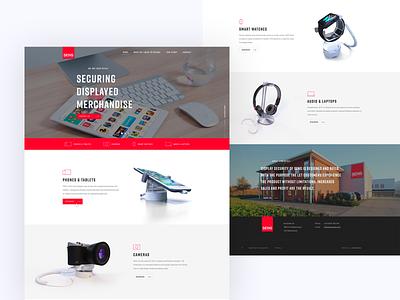 Website Sens Retail (display security) webdesigner websites web illustration site branding responsive flat website design clean ux ui uiux dailyui webdesign website design