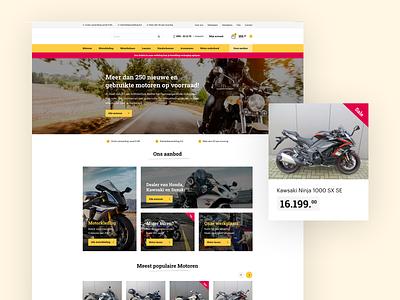 E-commerce Motorstore! 🏍 inspiration elegant red yellow web flat website clean site design ux ui webdesign store webshop web shop ecommerce e-commerce
