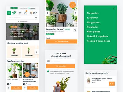 Mobile e-commerce Het Groene Paradijs 🌿 ux ui plant clean design ui design mobile design mobile e-commerce
