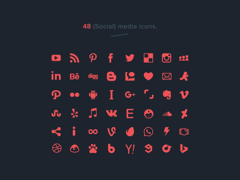 48 free social media icons (vector) psd ai social media vector free freebie icons social media