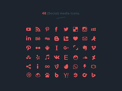 48 free social media icons (vector) icon branding typography logo illustration freebies freelance illustrations socialmedia social media icons playground psd ai social media vector free freebie icons social media