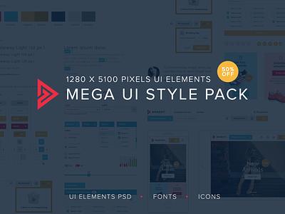 Freebie: Mega UI style pack playground bundle pack freebie free elements style ui psd ui elements ui kit ui
