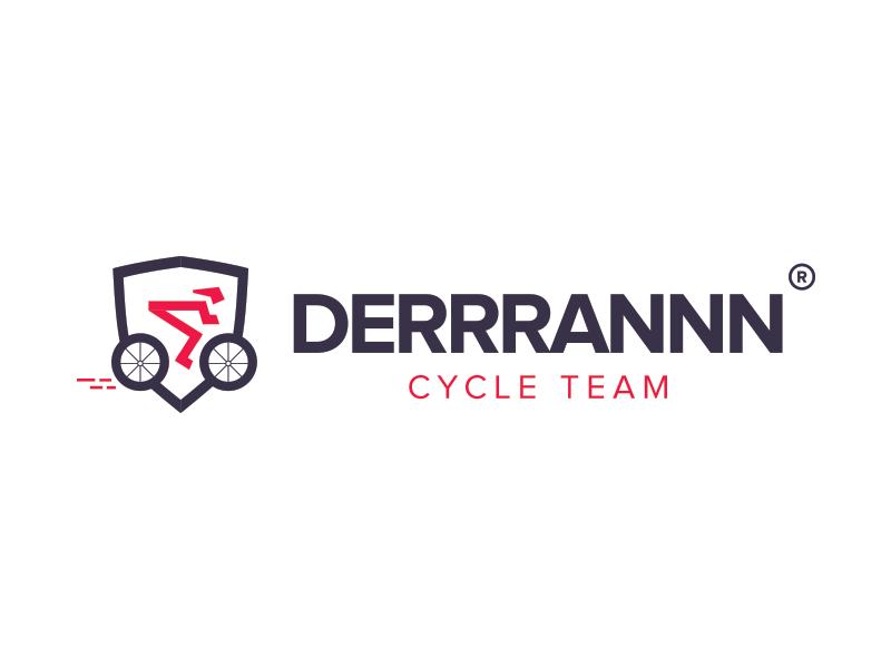 Logo concept Derrrannn by Gert Jakobs illustration color gert jakobs team cycle bike clean design brand logo