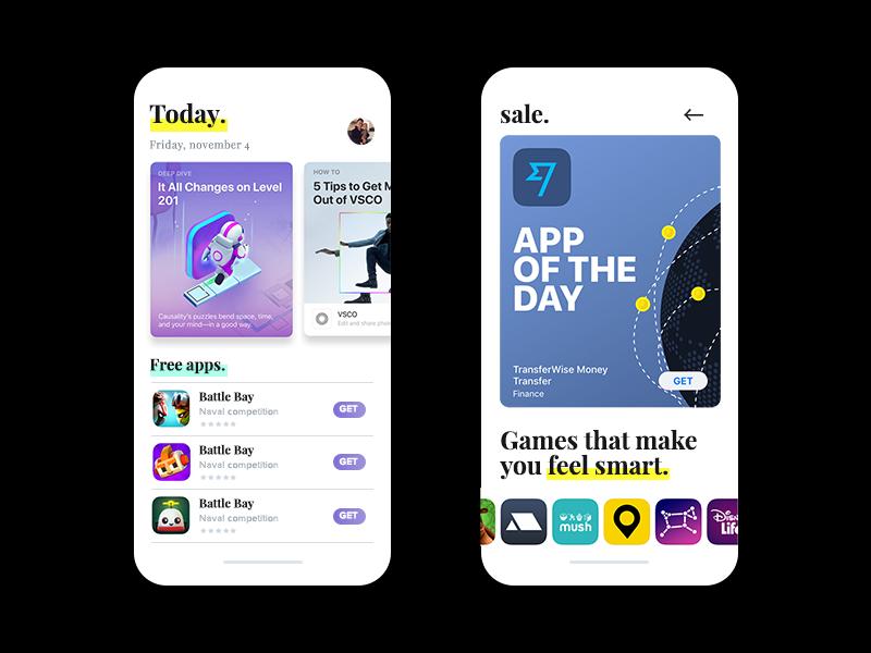 App store design (IOS12;))