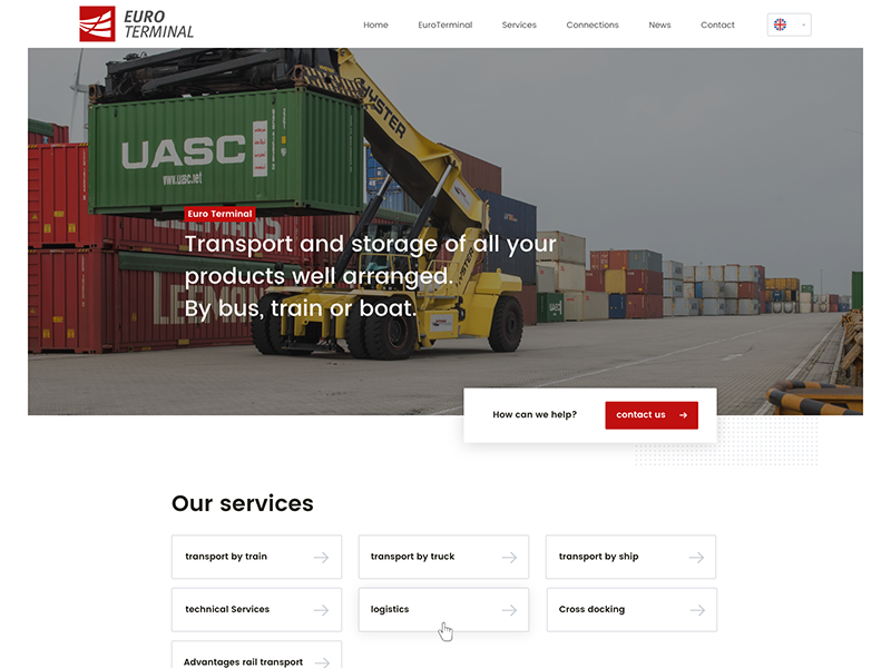 First website concept homepage site black white red ux ui flat clean webdesign concept