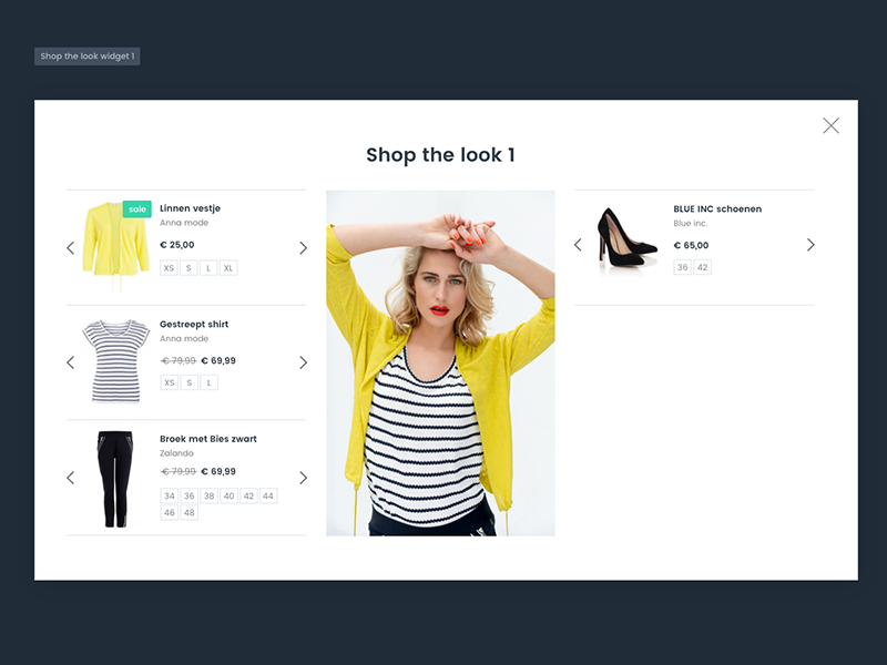 Shop The Look widget by shoply ® website web free illustration webdesign typography clothing clothing design mobile responsive design webshop e-commerce widget shop the look flat clean ui shop ecommerce
