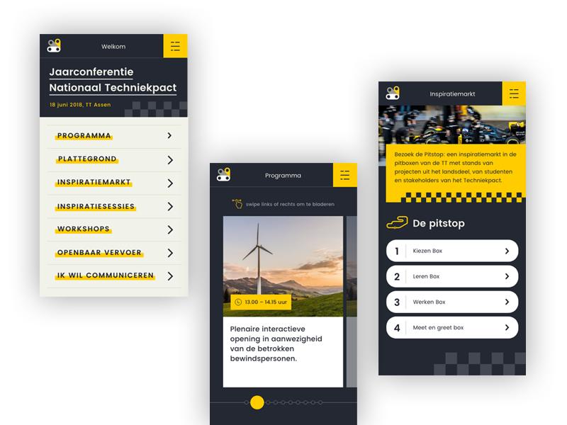 App design - Jaarconferentie Nationaal Techniekpact typography identity adobe xd vector responsive website web webdesign clean flat ui  ux ux design ux ui design site app dashboard app concept app
