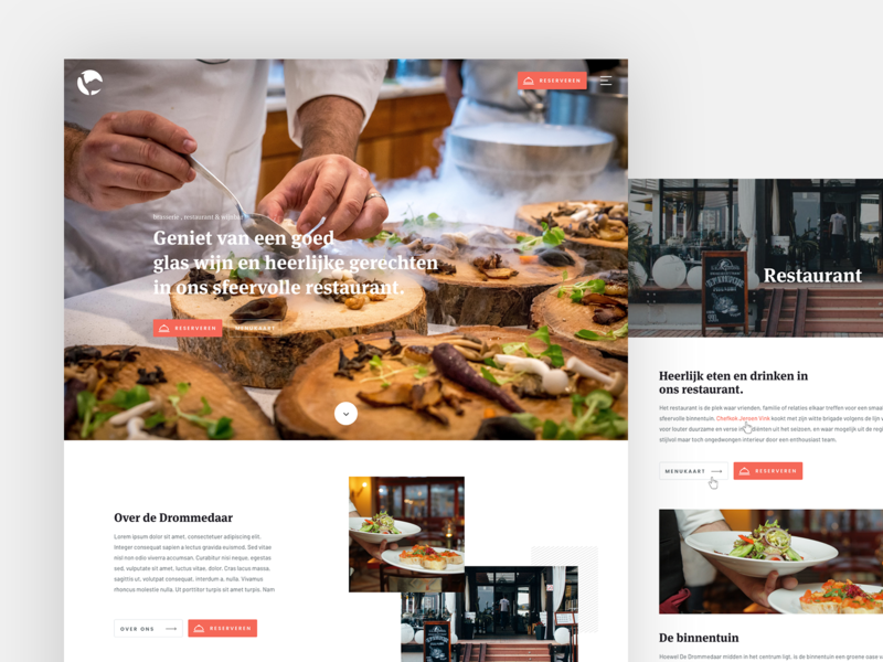 Restaurant website website black red ux ui branding free web typography flat responsive site restaurant webdesign clean design
