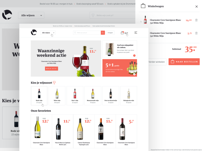 Wine shop / e-commerce design wine ecommerce ux free icon layout identity shop branding website responsive web webdesign site flat ui clean typography design e-commerce