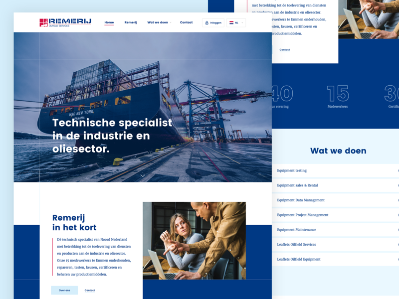Webdesign concept (oil industry) interface web illustration animation mobile typography layout branding identity app free responsive design website ux flat site clean ui webdesign