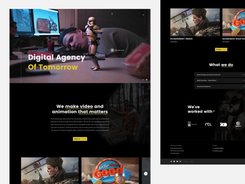 Digital Agency (Of Tomorrow) free typography site flat website responsive webdesign web clean ui design agency branding video design agency agency